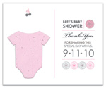 plantable favor flat card baby shower