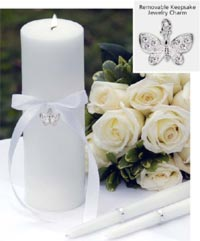 butterfly charm collection set - unity candle and tapers