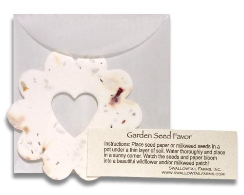 Handmade plantable paper favors plantable paper favors and seed plantable paper seed favors for weddings or special events mightylinksfo Choice Image