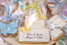 Butterfly Cookie Favors Cake Wedding Dress Bridal Shower