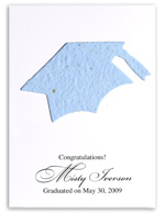 plantabe seed paper flatcard for graduation