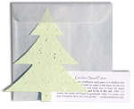 plantable paper favor holiday and graduation shapes - christmas tree