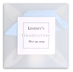 handmade plantable seed paper favor with vellum - graduation theme