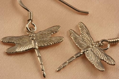 Dragonfly Earring And Necklace Gold Silver Wedding Gift